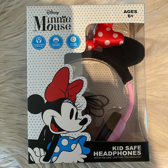 Disney's Minnie Mouse red bow kids safe headphones